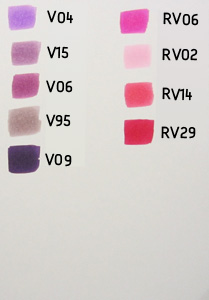 copic color chart paars