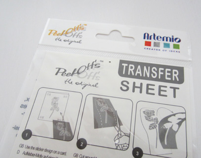 peel off transfer sheet